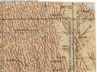 Reduced fragment of topographic map en--jog--250k--nh41-08--(1988)--N031-00_E064-30--N030-00_E066-00; towns and cities Mandowzi