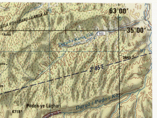Reduced fragment of topographic map en--jog--250k--ni41-06--(1988)--N035-00_E061-30--N034-00_E063-00; towns and cities Harirud