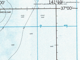 Reduced fragment of topographic map en--jog--250k--nj54-14--(1968)--N037-00_E139-30--N036-00_E141-10; towns and cities Utsunomiya, Mito, Hamatsuga, Higashidate, Kuroiso