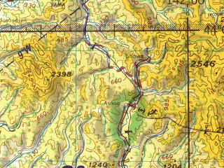 Reduced fragment of topographic map en--jog--250k--nk54-02--(1970)--N044-00_E140-00--N043-00_E142-00 in area of Ishikan; towns and cities Sapporo, Tomari, Yawara, Notsuka