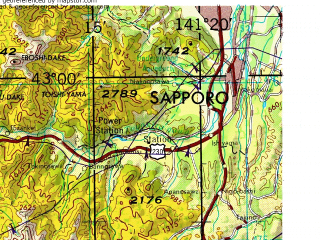 Reduced fragment of topographic map en--jog--250k--nk54-05--(1974)--N043-00_E139-20--N041-60_E141-20 in area of Uchiura Wan, Lake Toya; towns and cities Muroran, Hongo, Sukki, Nodaoi