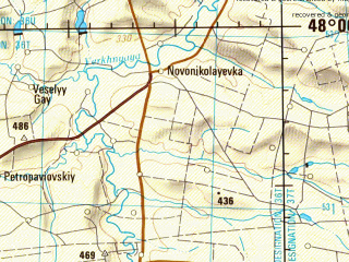 Reduced fragment of topographic map en--jog--250k--nl36-03--(1979)--N048-00_E034-00--N047-00_E036-00; towns and cities Zaporozh'ye, Nikopol', Marganets, Tokmak, Ordzhonikidze