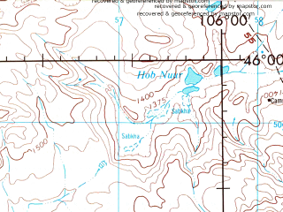Reduced fragment of topographic map en--jog--250k--nl48-08--(1975)--N046-00_E104-00--N045-00_E106-00; towns and cities Luus, Luusiin Hural, Tsogtchandman