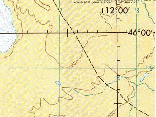 Reduced fragment of topographic map en--jog--250k--nl49-08--(1975)--N046-00_E110-00--N045-00_E112-00; towns and cities Ongiin Hudag