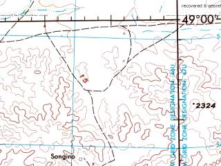 Reduced fragment of topographic map en--jog--250k--nm46-12--(1976)--N049-00_E094-00--N048-00_E096-00; towns and cities Dorvoljin, Santmargats