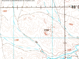 Reduced fragment of topographic map en--jog--250k--nm47-11--(1983)--N049-00_E098-00--N048-00_E100-00; towns and cities Ih-uul, Jargalant, Shine-ider