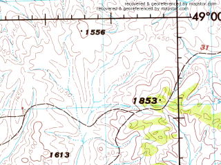 Reduced fragment of topographic map en--jog--250k--nm48-10--(1975)--N049-00_E102-00--N048-00_E104-00; towns and cities Rashaant, Mogod, Oldziyt