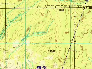 Reduced fragment of topographic map en--jog--250k--no46-11--(1996)--N057-00_E092-00--N056-00_E094-00; towns and cities Krasnoyarsk, Berezovka, Dodonovo, Pamyati Trinadtsati Bortsov, Bartat