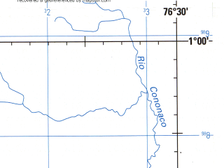Reduced fragment of topographic map en--jog--250k--sa18-05--(1990)--S001-00_W078-00--S002-00_W076-30; towns and cities Ahuano, Tahuinamhi, Arajuno