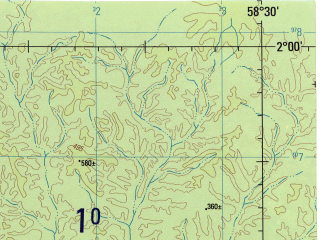 Reduced fragment of topographic map en--jog--250k--sa21-09--(1990)--S002-00_W060-00--S003-00_W058-30