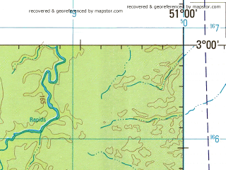 Reduced fragment of topographic map en--jog--250k--sa22-14--(1993)--S003-00_W052-30--S004-00_W051-00; towns and cities Cajueiro, Deserto, Favania