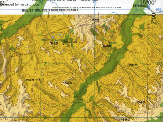 Reduced fragment of topographic map en--jog--250k--sa33-10--(1966)--S002-00_E013-30--S003-00_E015-00; towns and cities Insini, Masala, Moukoumou
