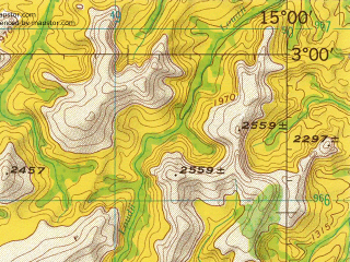Reduced fragment of topographic map en--jog--250k--sa33-14--(1966)--S003-00_E013-30--S004-00_E015-00; towns and cities Makaka, Bikie, Kibamba