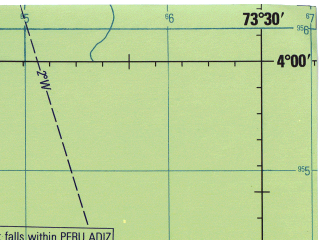 Reduced fragment of topographic map en--jog--250k--sb18-03--(1971)--S004-00_W075-00--S005-00_W073-30; towns and cities San Roque, Esperanza, Nauta