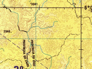 Reduced fragment of topographic map en--jog--250k--sb33-10--(1978)--S006-00_E013-30--S007-00_E015-00; towns and cities Cumbo, Lemboa, Madimba