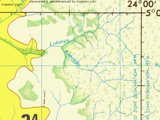 Reduced fragment of topographic map en--jog--250k--sb34-08--(1979)--S005-00_E022-30--S006-00_E024-00; towns and cities Bula-bula, Bungiwabo, Tambwe-tshintanku