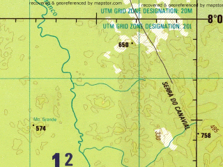 Reduced fragment of topographic map en--jog--250k--sc20-03--(1994)--S008-00_W063-00--S009-00_W061-30 in area of Rio Machado Ji-parana; towns and cities Lago Verde, Sao Rafael, Tabajara