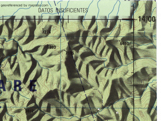 Reduced fragment of topographic map en--jog--250k--sd19-10--(1971)--S014-00_W070-30--S015-00_W069-00; towns and cities Azangaro, San Jose, Cueara, San Juan De Oro