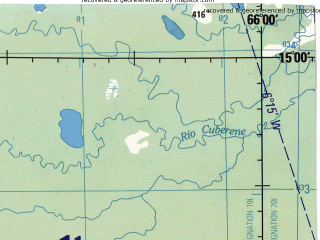 Reduced fragment of topographic map en--jog--250k--sd19-16--(1990)--S015-00_W067-30--S016-00_W066-00 in area of Rio Cotacajes; towns and cities Puerto Canoa, Puerto Marquez, Salinas