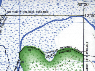 Reduced fragment of topographic map en--jog--250k--sd35-04--(1966)--S012-00_E028-30--S013-00_E030-00; towns and cities Ndola, Kimaki, Lukubi, Kimpale