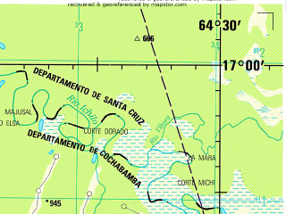 Reduced fragment of topographic map en--jog--250k--se20-05--(1999)--S017-00_W066-00--S018-00_W064-30; towns and cities Punata, Anzaldo, San Benito, Arani