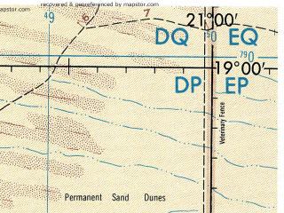 Reduced fragment of topographic map en--jog--250k--se34-14--(1974)--S019-00_E019-30--S020-00_E021-00