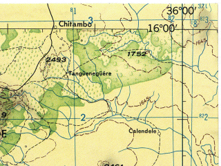 Reduced fragment of topographic map en--jog--250k--se36-04--(1967)--S016-00_E034-30--S017-00_E036-00; towns and cities Luchenza, Alfandega, Alimenda