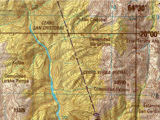 Reduced fragment of topographic map en--jog--250k--sf20-01--(1999)--S020-00_W066-00--S021-00_W064-30; towns and cities Cotagaita, Culpina, Incahuasi Vado