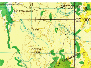 Reduced fragment of topographic map en--jog--250k--sf38-02--(1966)--S020-00_E043-30--S021-00_E045-00; towns and cities Analaiva, Tanambao, Andriamena
