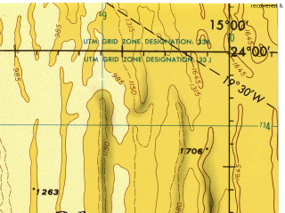 Reduced fragment of topographic map en--jog--250k--sg33-02--(1977)--S024-00_E013-30--S025-00_E015-00