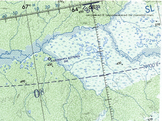 Reduced fragment of topographic map en--onc--001m--d04--(1973)--N064-00_E044-00--N056-00_E066-00 in area of Kamskoe Vodochranilisce, Kama, Votkinskoe Vodochranilisce; towns and cities Perm', Sverdlovsk, Izhevsk, Syktyvkar, Berezniki
