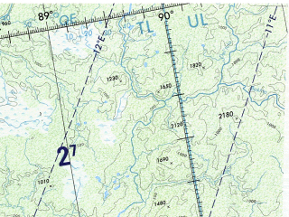 Reduced fragment of topographic map en--onc--001m--d05--(1979)--N064-00_E066-00--N056-00_E088-00 in area of Irtys, Culym, Irtys; towns and cities Tomsk, Nizhnevartovsk, Surgut, Anzhero-sudzhensk, Ishim