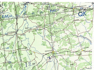 Reduced fragment of topographic map en--onc--001m--e03--(1973)--N056-00_E016-00--N048-00_E034-00 in area of Russia, Kiev, Zatoka Gdanksa; towns and cities Katowice, Warsaw, Kiev, Lodz, Wien