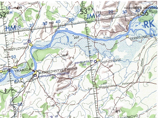 Reduced fragment of topographic map en--onc--001m--e04--(1973)--N056-00_E034-00--N048-00_E052-00 in area of Kujbysevskoje Vodochranilisce, Vologradskoje Vodochranilisce, Volga; towns and cities Moscow, Khar'kov, Donetsk, Dnepropetrovsk, Saratov