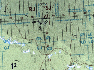 Reduced fragment of topographic map en--onc--001m--g05--(1996)--N040-00_E046-00--N032-00_E060-00 in area of Darya-ye Namak, Haur As Sadiya, Uzboj; towns and cities Tehran, Ashkhabad, Nebit-dag, Ali-bayramly, Sal'yany
