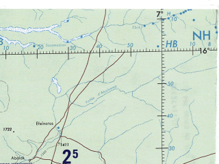 Reduced fragment of topographic map en--onc--001m--k02--(1983)--N016-00_W005-00--N008-00_E007-00 in area of Kainji Reservoir, Lac Niangay, Lac Debo; towns and cities Niamey, Ilorin, Ouagadougou, Ila, Gusau
