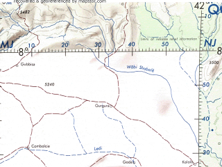 Reduced fragment of topographic map en--onc--001m--l05--(1973)--N008-00_E030-00--N000-00_E042-00 in area of Lake Rudolf, Lake Albert, Lake Kyoga; towns and cities Kampala, Meru, Eldoret, Sire, Kalangalo