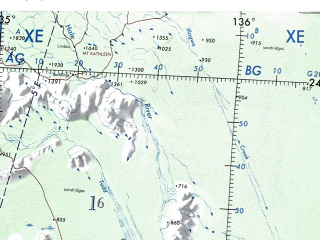 Reduced fragment of topographic map en--onc--001m--q13--(1973)--S024-00_E124-00--S032-00_E136-00 in area of Lake Amadeus, Lake Everard, Finke; towns and cities Limejuice Camp, Nullarbor, Mount Clarence