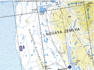 Reduced fragment of topographic map en--tpc--500k--c03-a--(1983)--N072-00_E036-00--N068-00_E051-00 in area of Enozero; towns and cities Kharlovka, Rynda, Svyatonosskaya Sirena