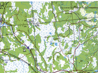 Reduced fragment of topographic map en--tpc--500k--d03-d--(2004)--N060-00_E022-00--N056-00_E033-00 in area of Estonia, Gulf Of Riga, Chudskoye Ozero; towns and cities St. Petersburg, Riga, Tallin, Novgorod, Velikiye Luki
