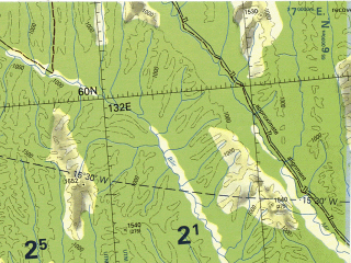 Reduced fragment of topographic map en--tpc--500k--d07-c--(2003)--N060-00_E121-00--N056-00_E132-00 in area of Ulahan-siligile; towns and cities Aldan, Chagda, Chul'man, Leninskiy, Yakokut