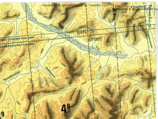 Reduced fragment of topographic map en--tpc--500k--d09-a--(1993)--N064-00_E154-00--N060-00_E165-30 in area of Balygycan; towns and cities Omsukchan, Chaybukha, Pervorechenskiy, Is-yen