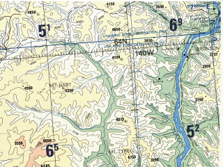 Reduced fragment of topographic map en--tpc--500k--d11-b--(1990)--N064-00_W151-30--N060-00_W140-30 in area of Turnagain Arm, Port Wells, Copper; towns and cities Anchorage, Kasilof, Salamatof, Cooper Landing