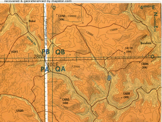 Reduced fragment of topographic map en--tpc--500k--h10-c--(1990)--N028-00_E095-00--N024-00_E101-00 in area of Er Hai, Indawgyi Lake; towns and cities Tija, Bhojo, Mahkyetkawng