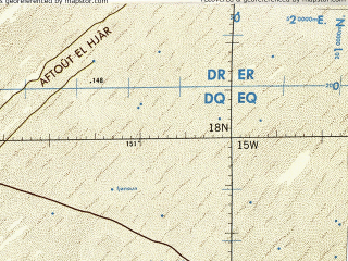 Reduced fragment of topographic map en--tpc--500k--k00-b--(1985)--N018-00_W021-00--N014-00_W015-00 in area of Lac De Guier, Lac Rkiz; towns and cities Dakar, Thies, Kaolack, Mbour, Rufisque