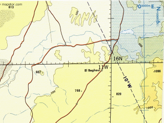 Download topographic map in area of Thies Kaolack Banjul mapstorcom