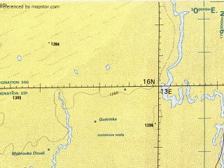 Reduced fragment of topographic map en--tpc--500k--k03-a--(1996)--N016-00_E007-00--N012-00_E013-00; towns and cities Kano, Mani, Gaska, Droum Malori