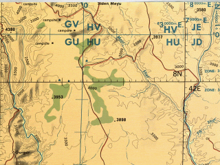 Reduced fragment of topographic map en--tpc--500k--l05-b--(1984)--N008-00_E036-00--N004-00_E042-00 in area of Lake Abaya, Lake Stefanie, Lake Chamo; towns and cities Robe, Beto, Aje