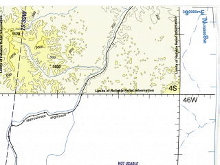 Reduced fragment of topographic map en--tpc--500k--m27-c--(1993)--S004-00_W052-00--S008-00_W046-00; towns and cities Imperatriz, Tocantinopolis, Balsas, Carolina, Santo Antonio