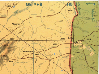 Reduced fragment of topographic map en--tpc--500k--n04-d--(1987)--S012-00_E018-00--S016-00_E024-00 in area of Zambezi; towns and cities Lutuai, Nyakawanda, Chauanhanha
